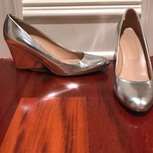 J. Crew silver wedges